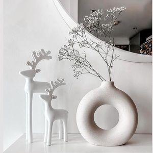 Small H&M Beige Donut Vase
